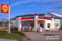 Shell 1950s era Ohio Gas Station Premium Print