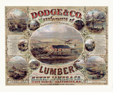 Dodge Lumber Company Advertising Lithograph