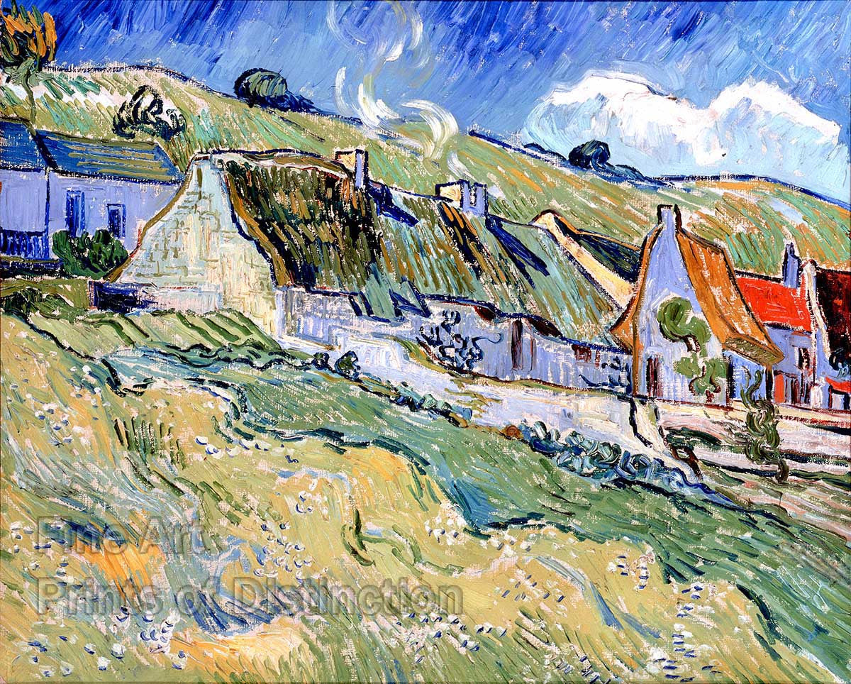 Thatched Cottages at Auvers-Sur-Oise by Vincent Van Gogh