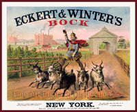Eckert and Winters Bock Beer Advertising Print