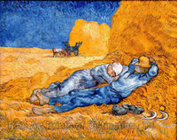 Noon Rest From Work after Millet by Vincent Van Gogh