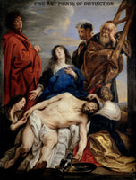 Pieta painted by the Flemish artist Jacob Jordaens between 1650 - 1660