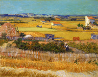 The Harvest of La Crau painted by Vincent Van Gogh