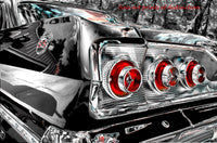 A premium print of Chevy Impala SS Chrome Tail Lights