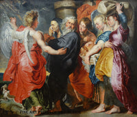 The Flight of Lot and His Family from Sodom attributed to Flemish artist Peter Paul Rubens