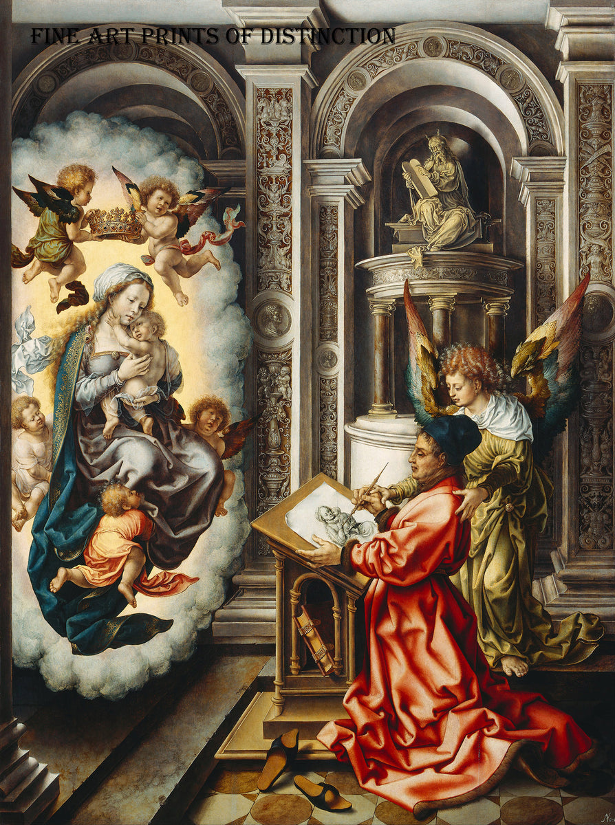 St. Luke Painting the Madonna painted by French Artist Jan Gossaert around 1520