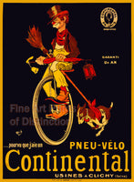 Continental Bicycle Tire Advertising Poster