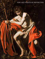John the Baptist in the Wilderness painted by the Italian artist Caravaggio in 1605