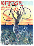 Deesse Bicycle French Lithograph Advertising Poster
