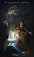 The Holy Family or The Nativity painted by Belgian Artist Joseph Benoit Suvee around 1790