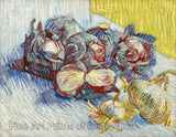 Red Cabbages and Onions painted by Vincent Van Gogh