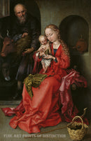 The Holy Family painted by the early German Artist Martin Schongauer around 1490