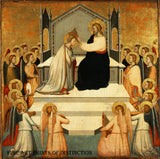 Coronation of the Virgin painted by the early Italian painter Maso di Banco around 1340.