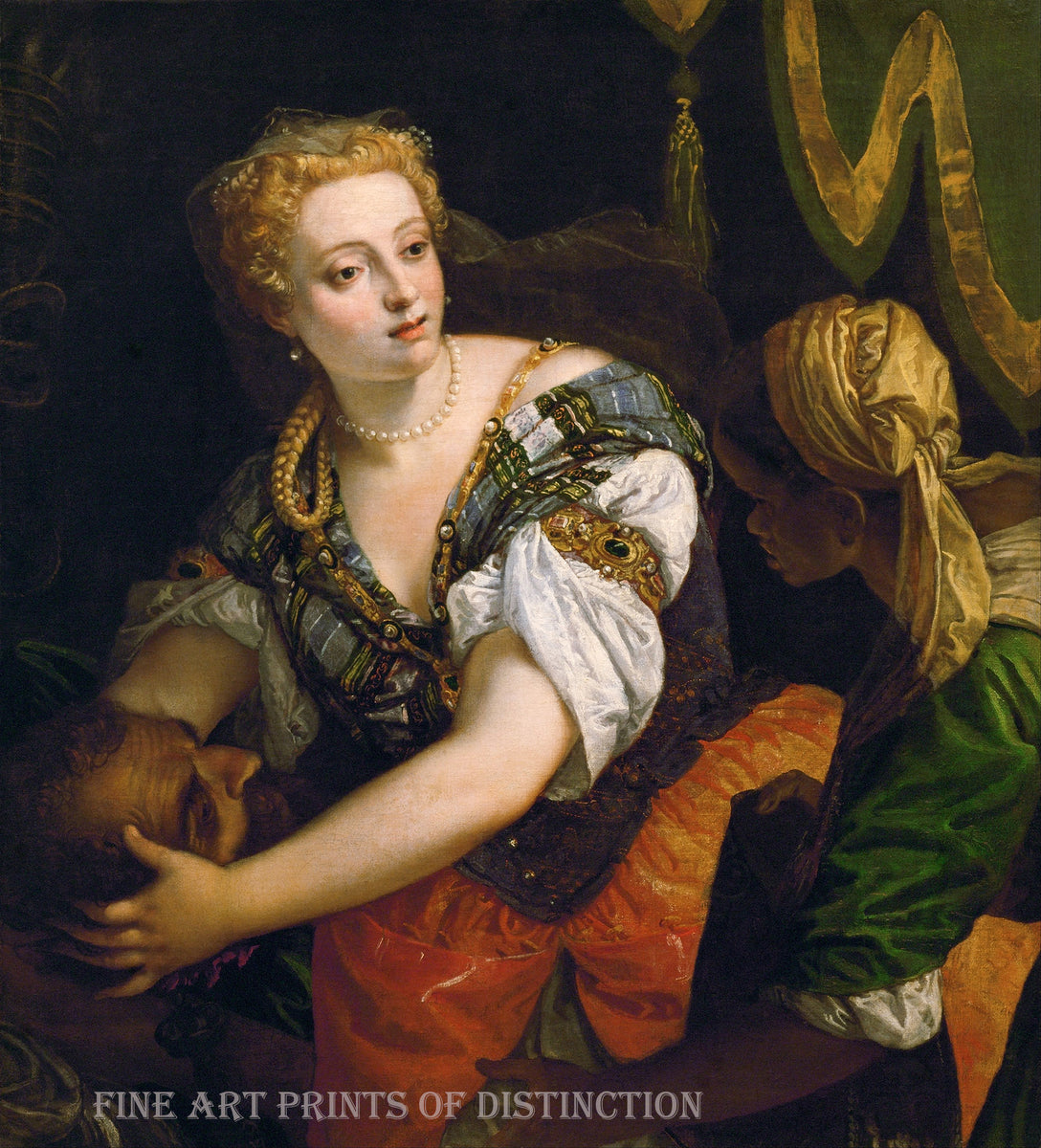 Judith with the Head of Holofernes painted by Paolo Veronese around 1580