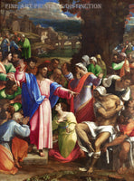 The Raising of Lazarus painted by Sebastiano del Piombo in 1519