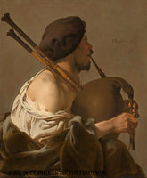Bagpipe Player painted by Dutch Artist Hendrick ter Brugghen in 1624