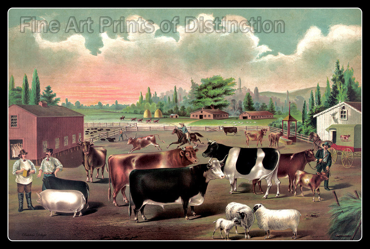 Butcher's Delight from an 1885 Print