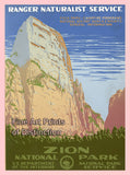 Zion National Park Travel Poster