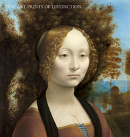 Ginevra de Benci painted by the famous Florentine painter Leonardo da Vinci in 1478