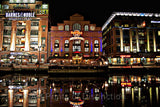 Baltimore Barnes & Noble and Hard Rock Cafe at Night Art Print