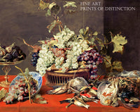Still Life with Grapes and Game painted by Flemish artist Frans Snyders in 1630