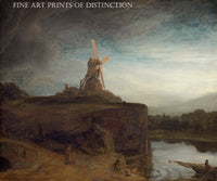 The Mill painted by Dutch Renaissance artist Rembrandt van Rijn around 1648