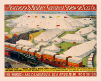 Barnum and Bailey Circus Poster Greatest Show on Earth