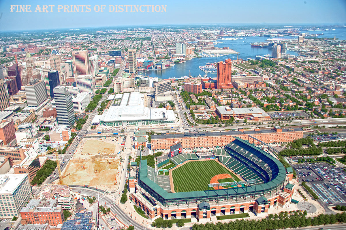 Aerial View of Camden Yards and Baltimore Art Print