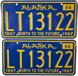 1966 Alaska Light Truck License Plates
