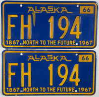 1966 Alaska For Hire License Plates