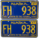 1967 Alaska For Hire License Plates
