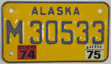 1975 Alaska Motorcycle License Plate