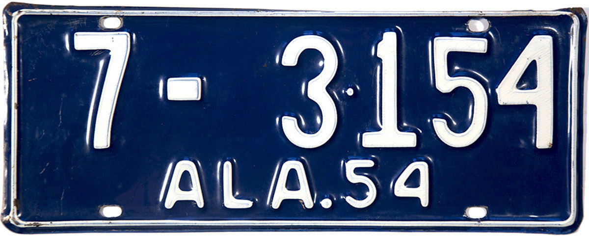 1954 Alabama License Plate