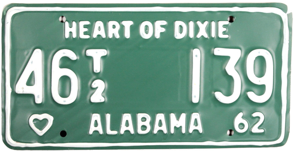 DMV 1962 Alabama Trailer License Plate