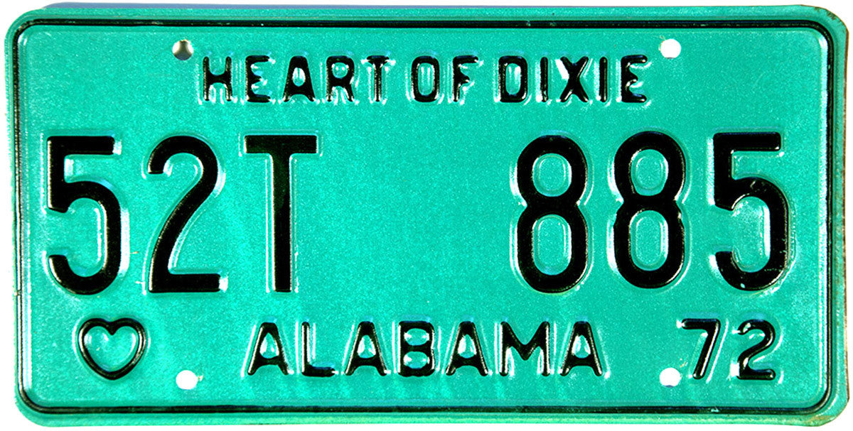 DMV 1972 Alabama Trailer License Plate