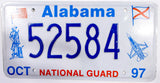 1997 Alabama National Guard License Plate