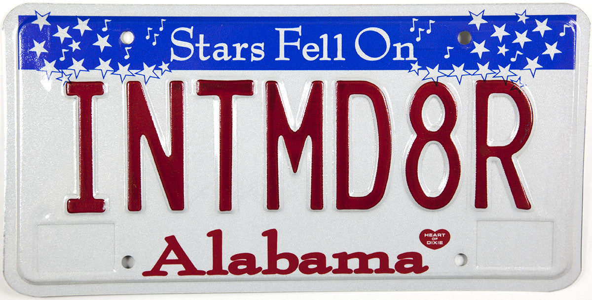 2003 Alabama Dale Earnhardt License Plate