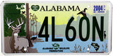 2004 Alabama Wildlife Federation License Plate