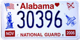 2006 Alabama National Guard License Plate