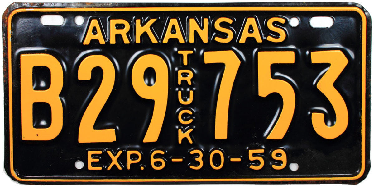 1959 Arkansas Truck License Plate