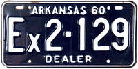1960 Arkansas Dealer License Plate