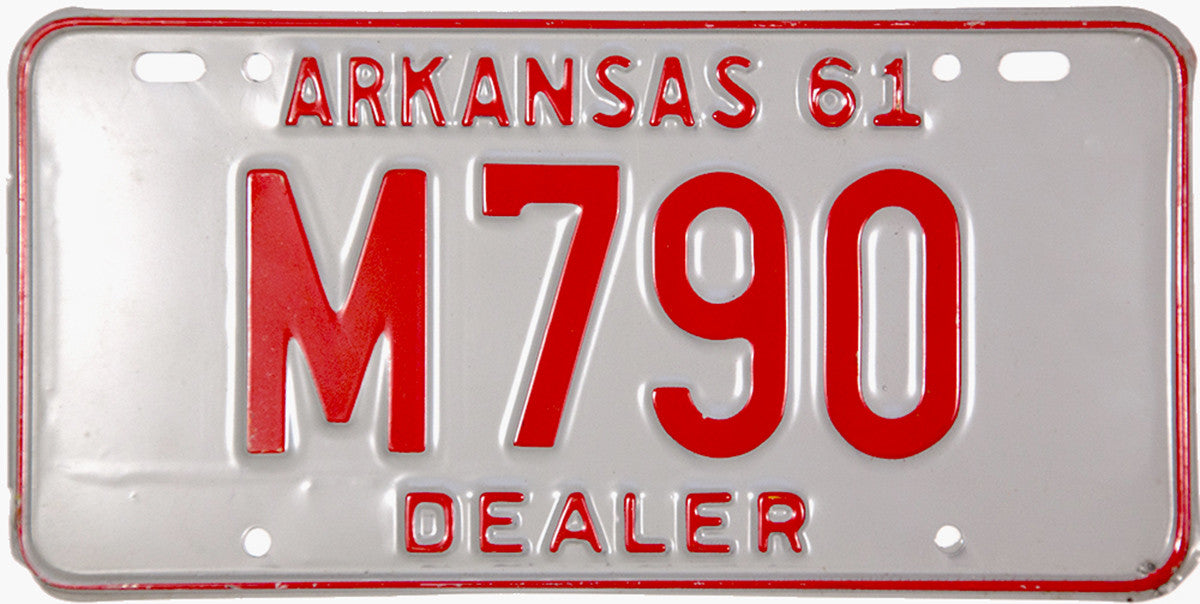 1961 Arkansas Dealer License Plate