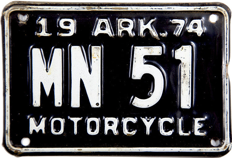 1974 Arkansas Motorcycle License Plate