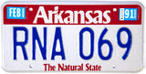 1991 Arkansas License Plate