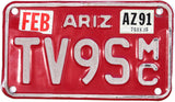 1991 Arizona Motorcycle License Plate