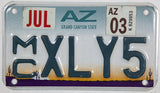 2003 Arizona Motorcycle License Plate