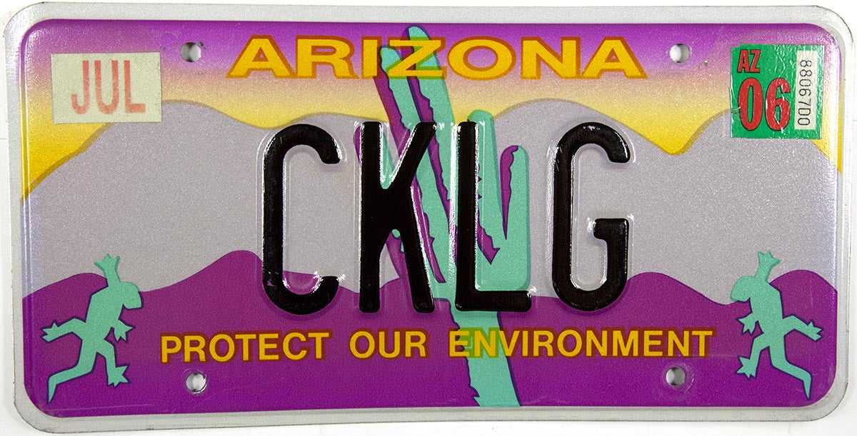 2006 Arizona License Plate