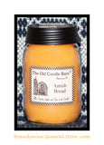 Amish Bread scented primitive pint candle jar made by The Old Candle Barn