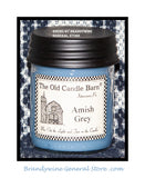 Amish Grey prmitive half pint candle jar made by The Old Candle Barn