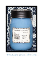 Amish Grey prmitive pint candle jar made by The Old Candle Barn